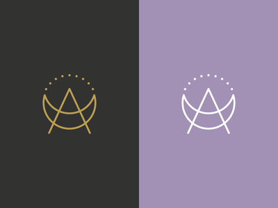 A Moon witchy icon branding crescent logo moon