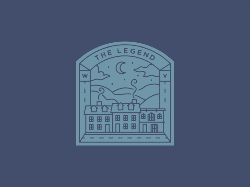 The Legend logo west virginia outdoors building historical legend badges