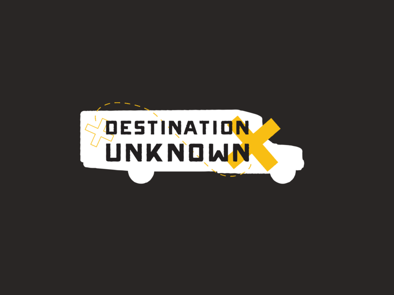 Destination Unknown bus adventure branding logo tourism west virginia unknown destination