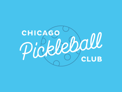 Chicago Pickleball Club chicago branding hand lettering logo pickleball