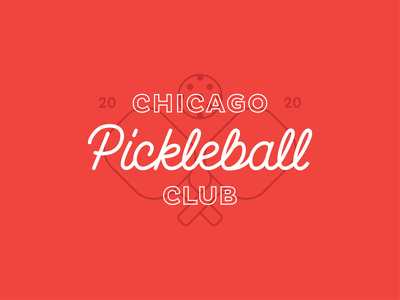 Chicago Pickleball Club pickleball chicago cubs hand lettering logo branding