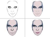 Cher - 2DK Tour Illustration process