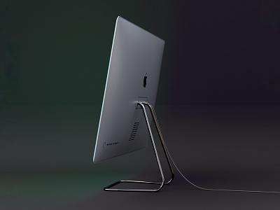 iMac Pro M1 Side prototype 3d render octane c4d tech redesign product design imac mockup m1 industrial design imac pro imac concept apple