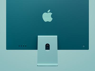 iMac Green imac octane apple render c4d 3d