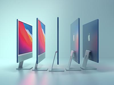 iMac Green m1 product identity imac octane apple render c4d 3d