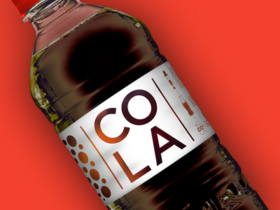 Top Budget - COLA bottle supermarket packaging package red cola coca identity food budget branding brand