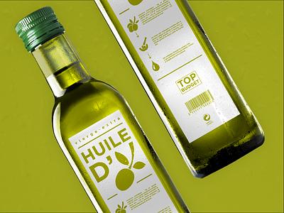 Top Budget - OLIVE OIL supermarket huile packaging package identity food oil olive budget branding brand bottle