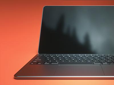 Macbook Pro Render cinema 4d c4d laptop render octane pro apple macbook mac 3d
