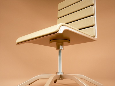 Office Chair design product octane leather aluminium render c4d 3d office furniture chair