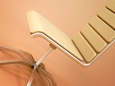 Office Chair render product office octane leather furniture design chair c4d aluminium 3d