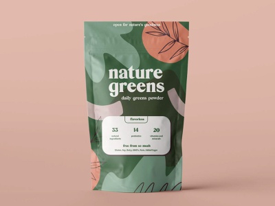 Nature Greens Branding patterns typeography consumer goods branding packaging