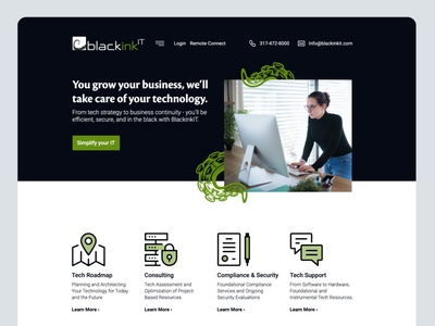 BlackInk IT Home Page website smallbusiness technology webflow figma web design webdesign