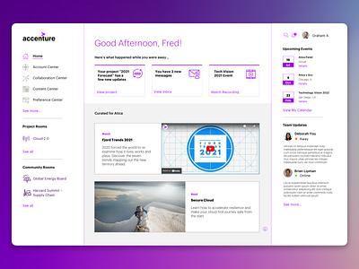 Client Portal Concept product design ux ui portal