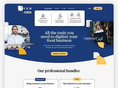 Restaurant Management Hero Page branding ux ui