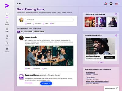 Early concept for a client content portal ux ui content portal