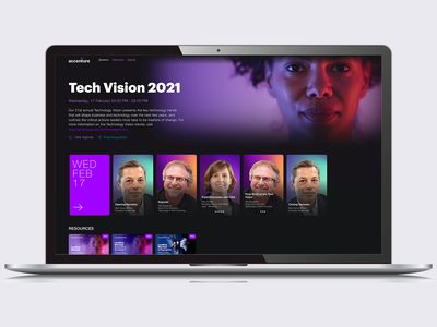 Attendee Experience Design — Virtual Conference landing page ui virtual conference