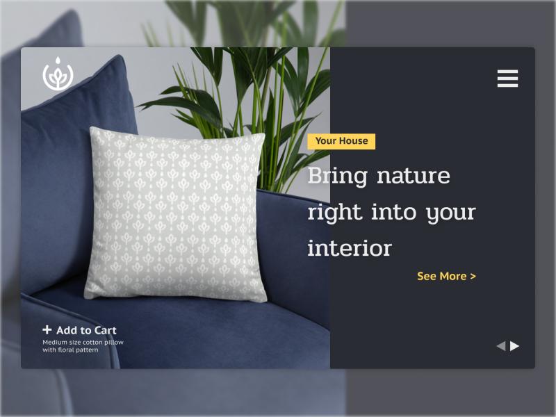 Shop Landing Concept horizontal house ui shop interior interface landing clean website