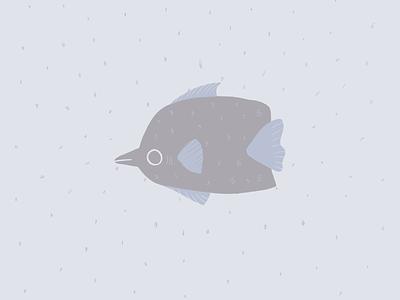 Blue fish draw sea fishes doodle blue procreate fish animal illustration