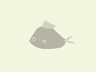 Green Fish draw doodle sea illustration procreate green fish