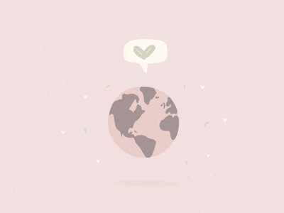 Every day is earth day planet loveplanet love eco-friendly pink earthday doodle eco illustration