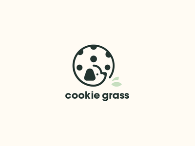 Cookie Grass animal brand pet isotype cookie dog logo