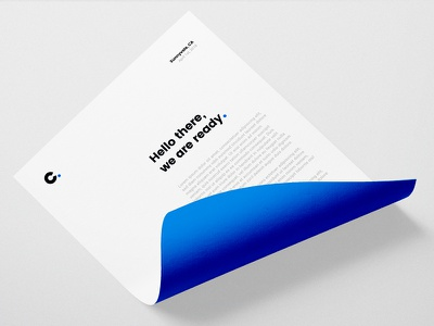 Channel Partners Stationery identity paper type branding blue stationery logo