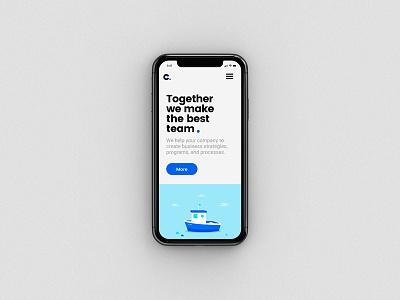 Channel Partners responsive site illustration identity type branding mobile website logo