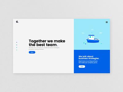 Channel Partners website button boat home interface illustration identity type branding website logo