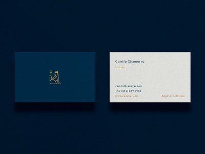 Canavar Business Card identity paper type branding businesscard stationery logo