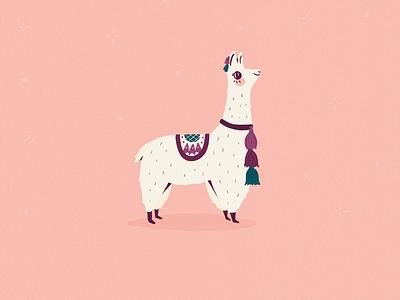 Alpaca cusco peru cute animal illustration alpaca