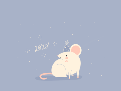 2020 babyillustration baby baby mouse celebration holidays party hat stars new year doodle colorpalette illustration animals illustrated animals animal blue cute mouse mouseyear newyear 2020