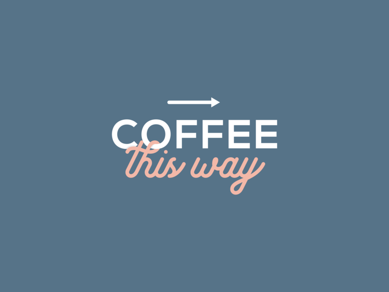 Simple typography for a local coffee shop by designcue for Local wallpaper shops