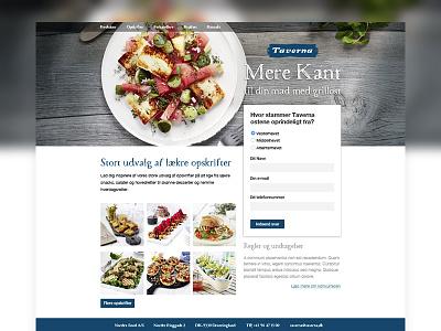 Taverna recipe competition form webdesign website food