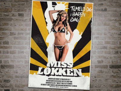 Miss Løkken poster beauty grunge cinematic grindhouse sexy