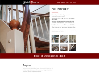 Sindal Trappen stairs website webdesign