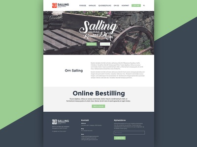 Salling layout plant website webdesign