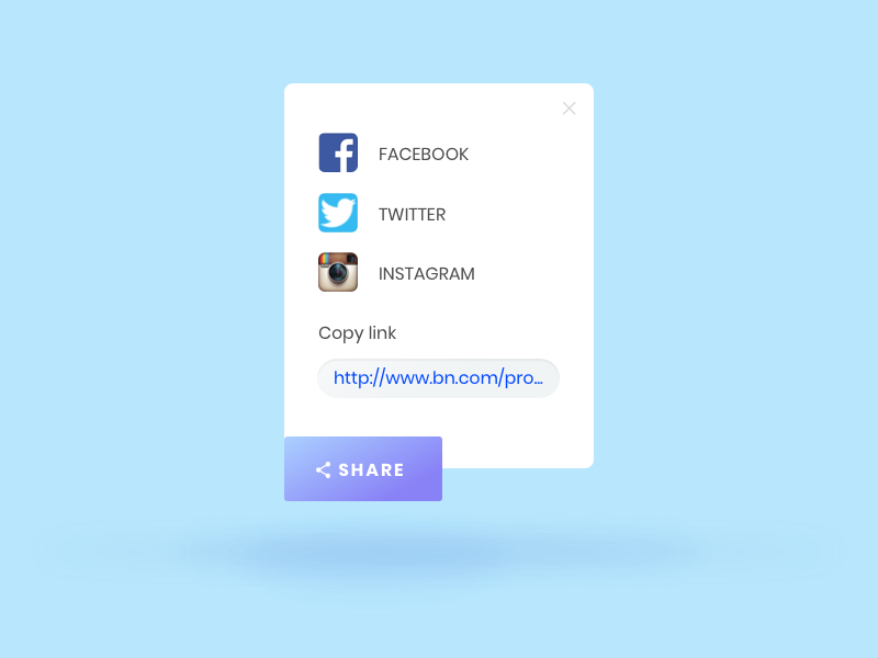 daily ui 10   Social Share by Leo Thien on Dribbble