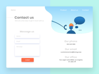 Daily UI 28   Contact Us
