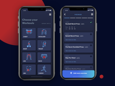 Daily UI 41 | Workout Tracker
