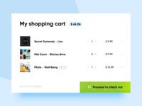Daily Ui 58 Shopping Cart