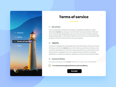 Daily UI 89: Terms of service installation terms of service minimal interface flat design illustration challenge ui daily ui