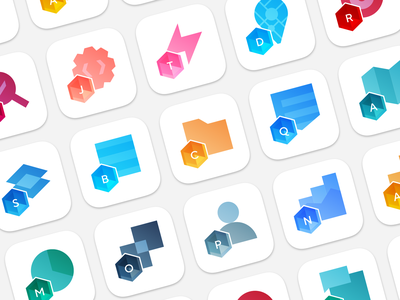 Product icons for Gems Development plugins products branding icons