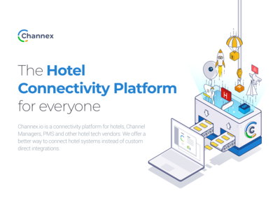 Logo and Key Visual for the Hotel Connectivity Platform