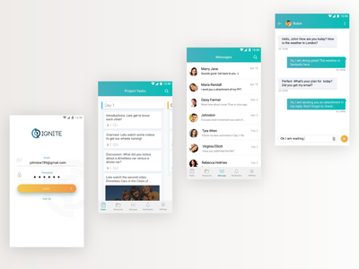 E-Learning App mobile app chat ux ui elearning app android