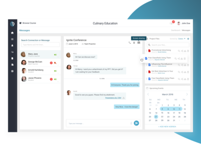 Dashboard - Message   Conference