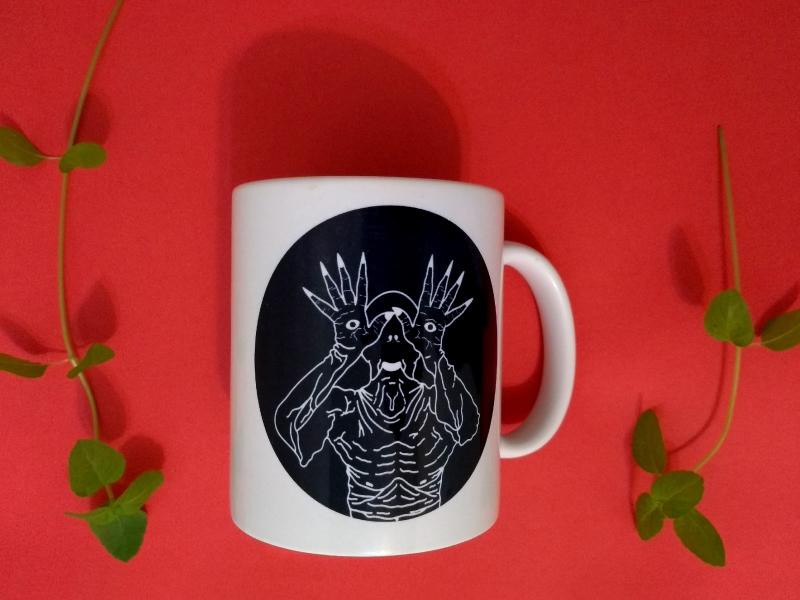 PALE #02 mug squeegee serigraphy silk screen print print graphics vector illustration