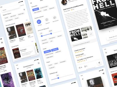 Bookstore adobe XD app prototype