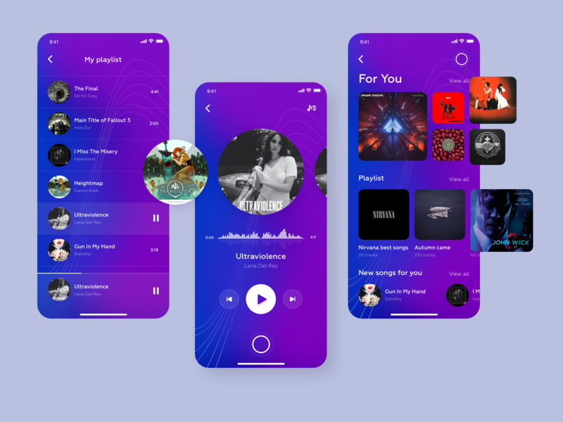 The assistant will give musical recommendations. minimal xd music ux kit ui interface ios app