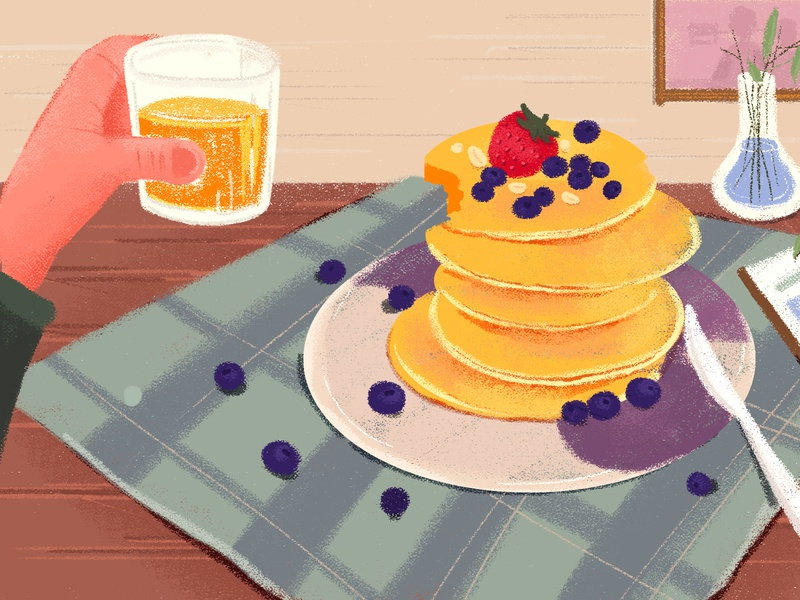 Breakfast on weekdays design illustration weekdays breakfast
