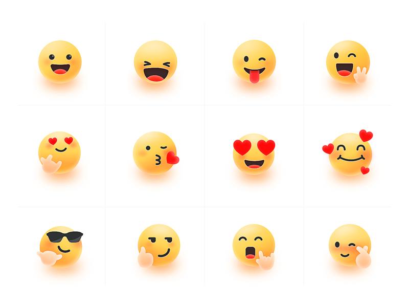 emoji illustration icon design ui sketch